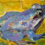 Żaba 30x45, akryl na płótnie