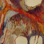 Przestrzeń II 80x73cm, wełna, bawełna, jedwab