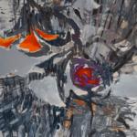 HOKUSAI BELLS, Martyna Kliszewska, olej na płótnie, 130x90cm, 2018r